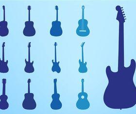 Guitar Silhouettes art vector