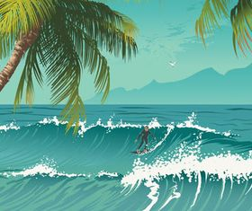 Summer Beach Backgrounds 14 vector
