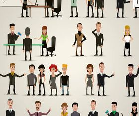Various Business People 2 vector graphics