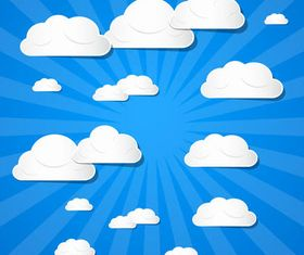 Backgrounds with Clouds art vector