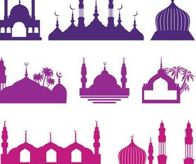 Islamic Buildings free vectors material