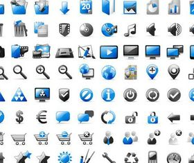 Color Various Icons Mix vectors graphics