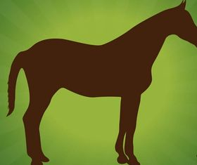 Standing Horse Silhouettes art vector