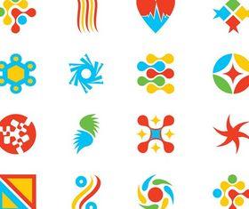 Colorful Logo Templates set vector