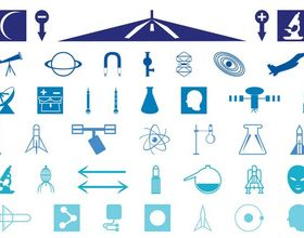 Science Icons art vector