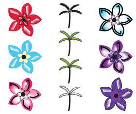 Exotic Plants Graphics Set design vectors