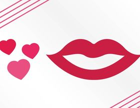 Hearts And Lips Graphics art vectors material