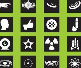 Science Icons Graphics art vector graphics