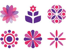 Floral Icon free design vector