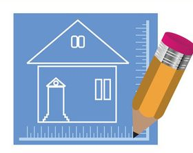 House Blueprint And Pencil art vector