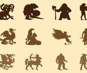 Mythological Creatures Graphics vector