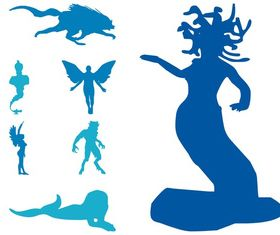 Mythological Creatures art vector graphics