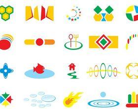 Colorful Icon Designs set vector