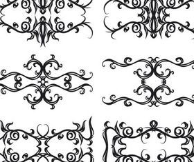 Ornate Swirl Elements 6 design vectors