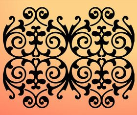 Floral Swirls Silhouette vector