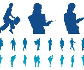 Businesspeople Silhouette art vector