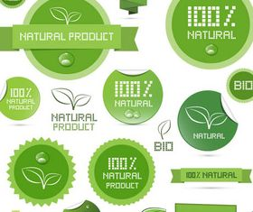 Natutal Product Labels art vector