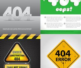 Error Page Backgrounds vector