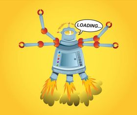 Cartoon Robot Graphics vector