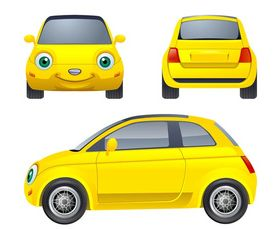 Cartoon Car Character vector