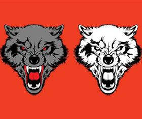 Angry Wolves Graphics art vector