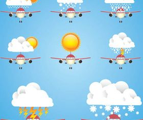Creative Weather Icons vector
