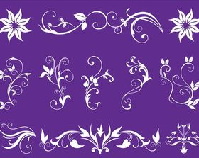 Floral Swirls free vector