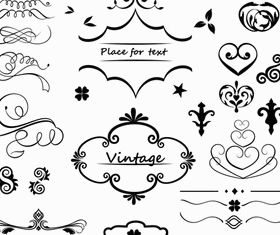 Vintage Design Elements 23 vectors material