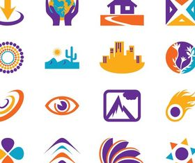 Icons And Logo Templates vectors