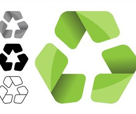 Recycling Symbols Set vector material