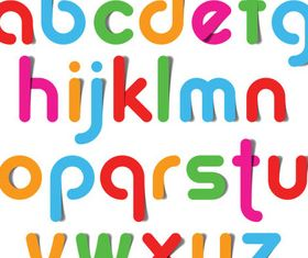 Creative Shiny Alphabets vectors