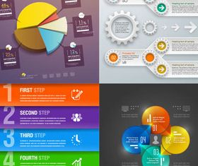 Shiny Infographics design vector