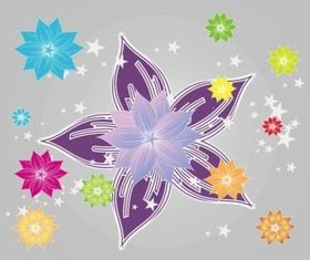 Bright Colorful Flowers vector graphic