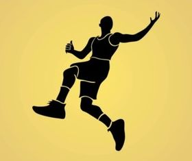 Jumping Man vector graphics