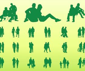 People In Groups Graphics art vector