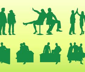 Business people Silhouettes art vector design