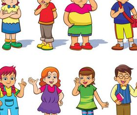 Children Emotions free vector
