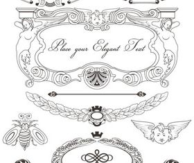 Stylish Vintage Frames 17 vector material