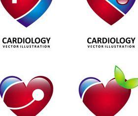 Cardiology Shiny Logo vector