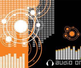 Musical Background Template art vector