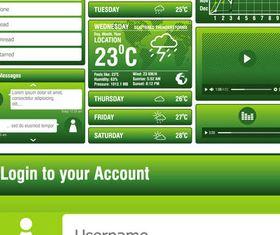Green UI Elements vector
