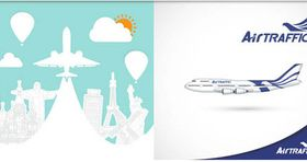 Backgrounds with Aircrafts art vector graphic
