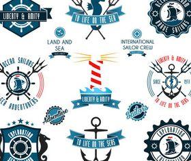 Marine Labels free vector material