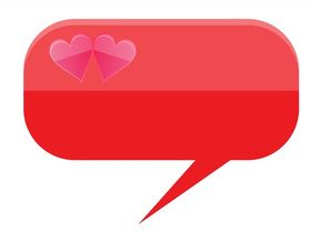 Speech Bubble With Hearts art set vector