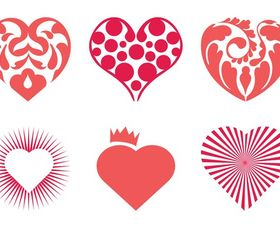 Hearts graphic vector
