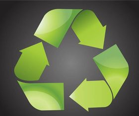 Shiny Recycling Symbol vector