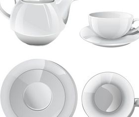 Cup coffee and te design vectors