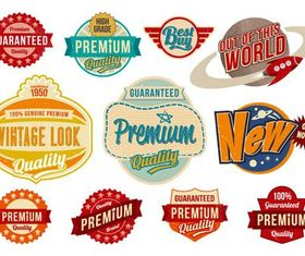 Retro Bright Sale Labels art vectors material