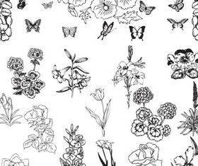 Ornate Floral Elements (Set 22) vector