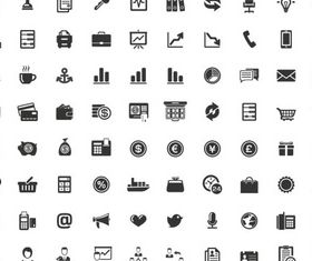 Black Different Icons vectors